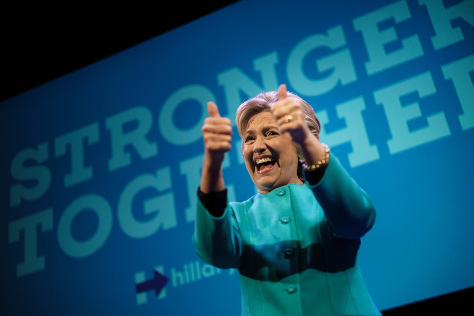 Clinton risks energizing her opponent's supporters every time she lands in a battleground state for a rally.